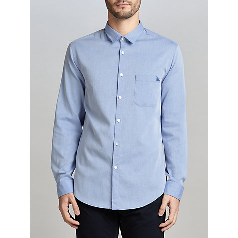 Buy BOSS Green C-Bruel Cotton Shirt, Medium Blue Online at johnlewis.com