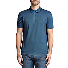 Buy BOSS Green C-Panova Micro Check Polo Shirt, Navy Online at johnlewis.com