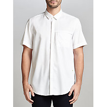 Buy BOSS Green Brazzy Short Sleeve Shirt, White Online at johnlewis.com