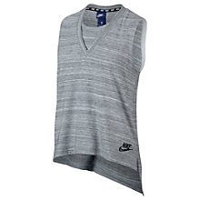 Buy Nike Sportswear Advance 15 Tank Top, White/Black Online at johnlewis.com