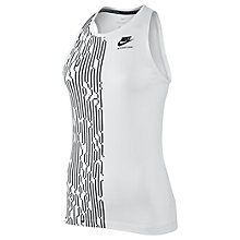 Buy Nike International Tank, White/Black Online at johnlewis.com