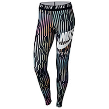 Buy Nike International Leggings, Black/Multi Online at johnlewis.com