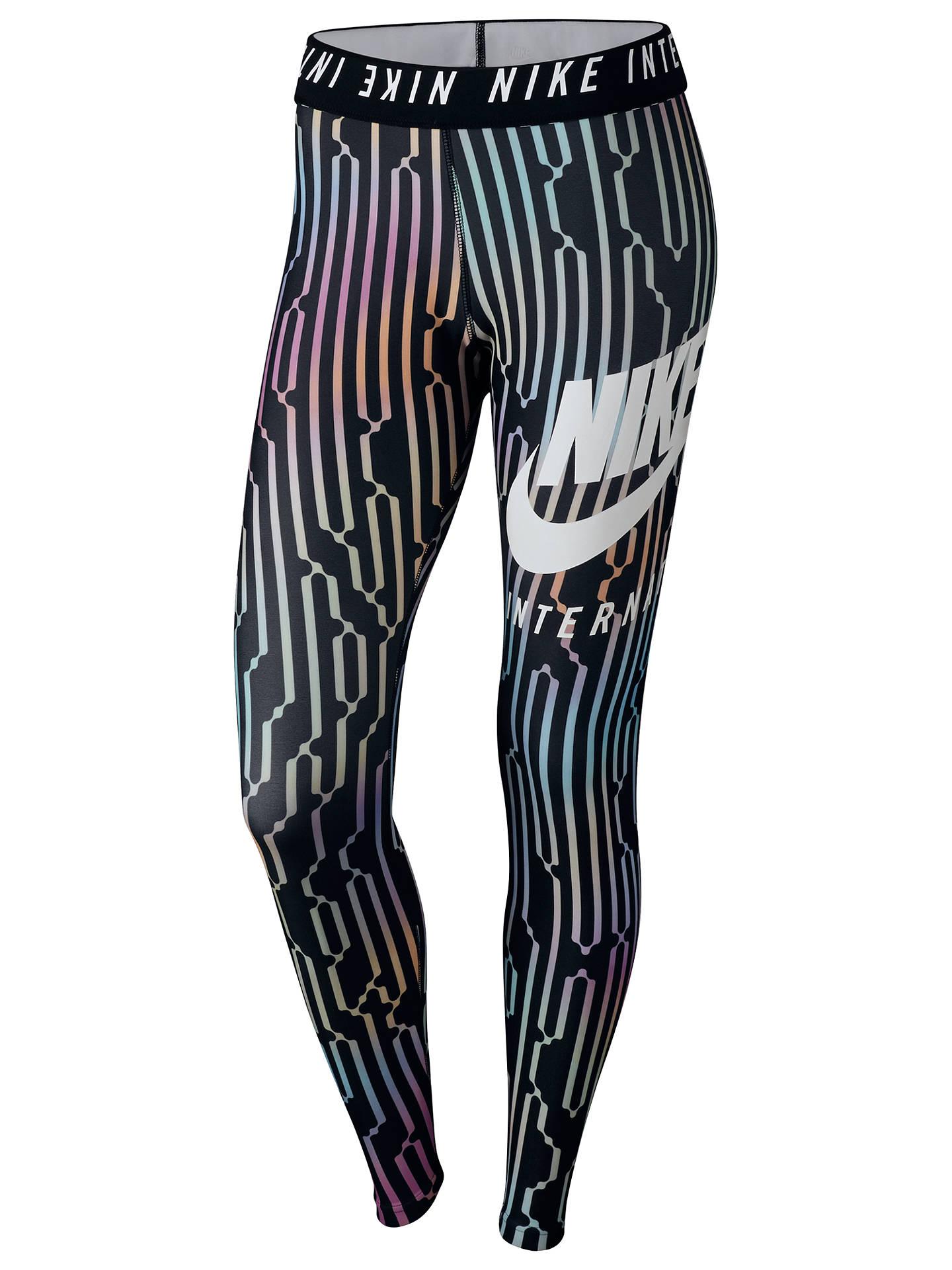 102c5b41d4925 Buy Nike International Leggings, Black/Multi, XS Online at johnlewis.com ...