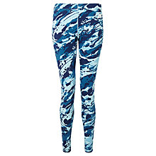 Buy Nike Camo Cotton Leggings, Blue/White Online at johnlewis.com