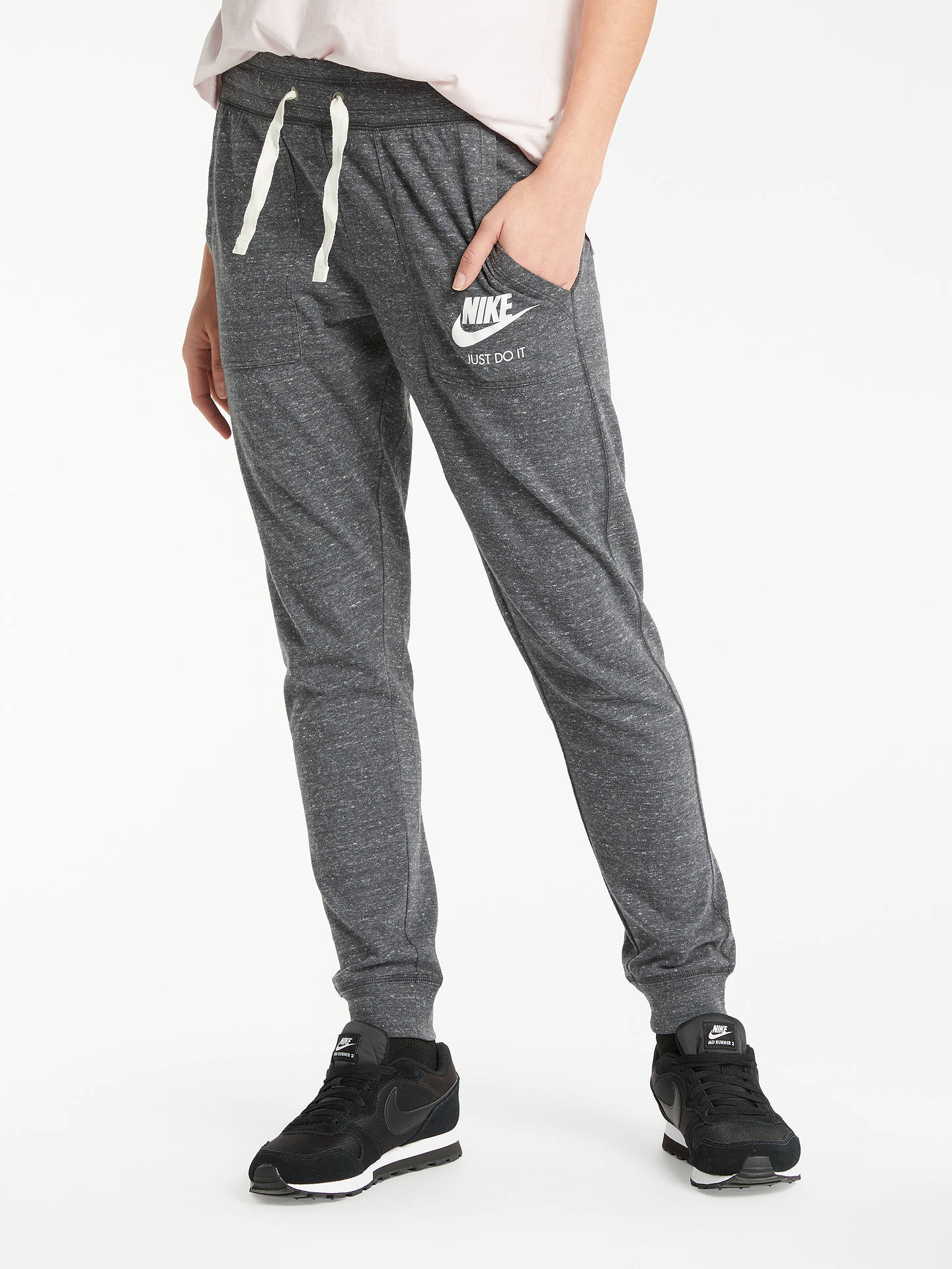 BuyNike NSW Cotton Tracksuit Bottoms, Black, XS Online at johnlewis.com