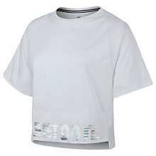 Buy Nike Holographic Logo Crop Top Online at johnlewis.com
