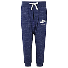 Buy Nike Cotton Capri Pants, Blue Online at johnlewis.com