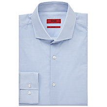 Buy HUGO by Hugo Boss C-Jason Patterned Slim Fit Shirt, Light Blue Online at johnlewis.com