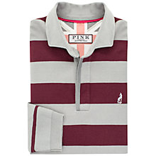 Buy Thomas Pink Harold Stripe Classic Fit Rugby Jersey, Burgundy/Grey Online at johnlewis.com