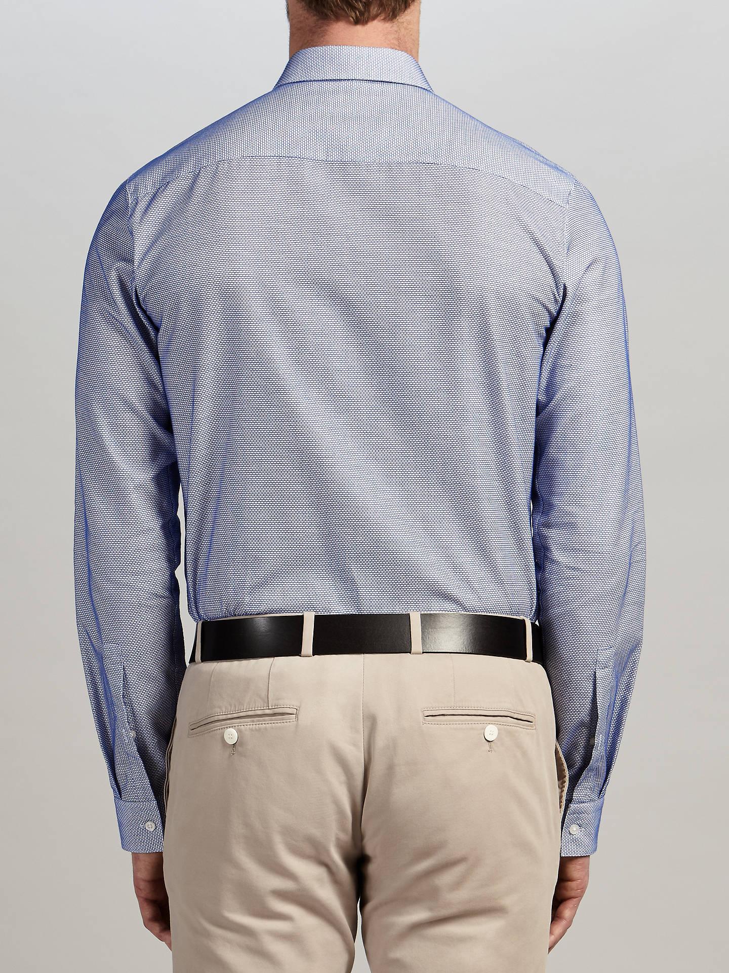 7fafae205 ... Buy HUGO by Hugo Boss Erondo Pattern Extra Slim Fit Shirt, Medium Blue,  15 ...