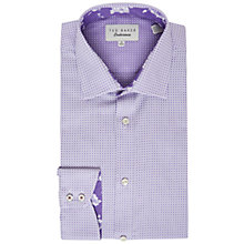 Buy Ted Baker Eager Dot Print Tailored Fit Shirt, Purple Online at johnlewis.com