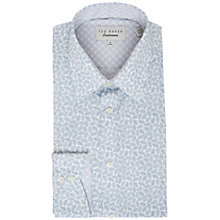 Buy Ted Baker Nimph Leaf Print Tailored Fit Shirt Online at johnlewis.com