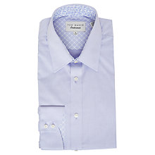 Buy Ted Baker Oaker Dobby Tailored Fit Shirt, Purple Online at johnlewis.com