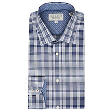 Buy Ted Baker Krave Check Shirt, Navy Online at johnlewis.com