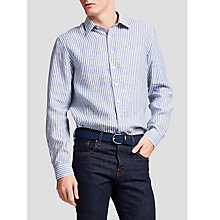 Buy Thomas Pink Tennent Classic Fit Linen Stripe Shirt Online at johnlewis.com
