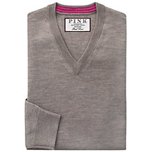 Buy Thomas Pink Hawthorne Merino Jumper, Beige Online at johnlewis.com