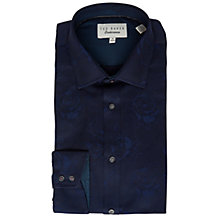 Buy Ted Baker Anook Tonal Floral Shirt, Navy Online at johnlewis.com