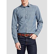 Buy Thomas Pink Jackson Print Slim Fit Shirt, White/Navy Online at johnlewis.com
