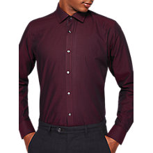 Buy Ted Baker Pin Dot Shirt, Red Online at johnlewis.com