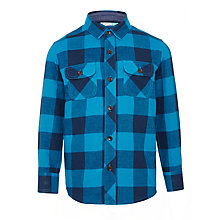 Buy John Lewis Boys' Buffalo Check Long Sleeve Shirt Online at johnlewis.com