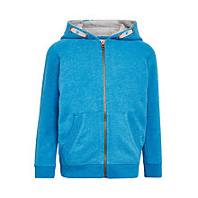 Buy John Lewis Boys' Solid Zip Hoodie, Blue Online at johnlewis.com