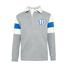 Buy John Lewis Boys' Arm Panel Rugby Top, Grey Online at johnlewis.com