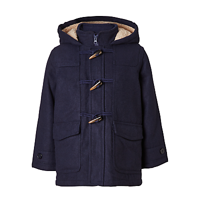 John Lewis Boys' Gully Duffle Coat, Navy