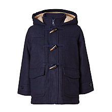 Buy John Lewis Boys' Gully Duffle Coat, Navy Online at johnlewis.com
