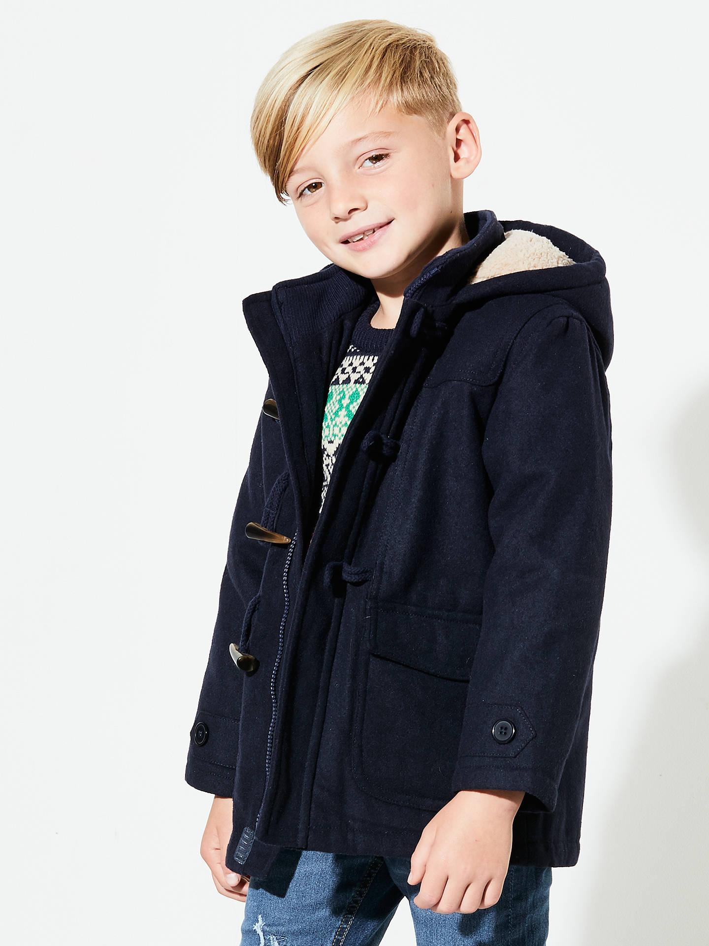 John Lewis & Partners Boys' Gully Duffle Coat, Navy at John