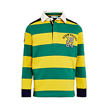 Buy John Lewis Boys' Bar Stripe Rugby Top, Green/Yellow Online at johnlewis.com