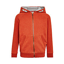 Buy John Lewis Boys' Solid Zip Hoodie, Orange Online at johnlewis.com