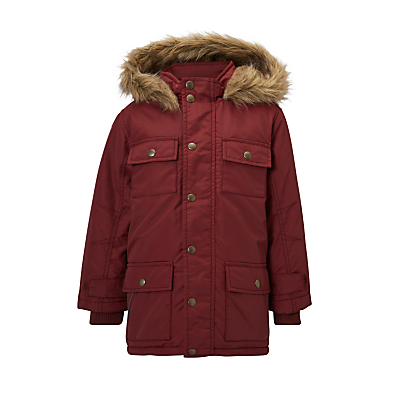John Lewis Boys' Explored Hooded Parka Coat