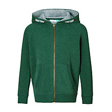 Buy John Lewis Boys' Solid Zip Hoodie, Green Online at johnlewis.com