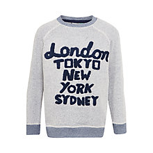 Buy John Lewis Boys' Cities Sweatshirt, Grey Online at johnlewis.com