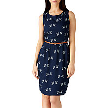 Buy Sugarhill Boutique Portia Graphic Birds Print Dress, Navy Online at johnlewis.com