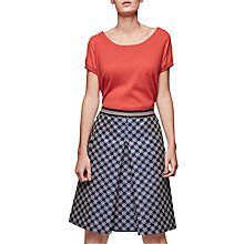 Buy Gerard Darel Jess Printed A-Line Skirt, Blue Online at johnlewis.com