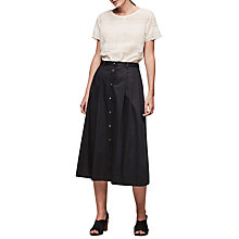 Buy Gerard Darel Joy Skirt, Midnight Blue Online at johnlewis.com