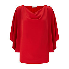 Buy Jacques Vert Floaty Top, Bright Red Online at johnlewis.com