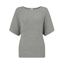 Buy East Ribbed Stripe Jumper, Ash Online at johnlewis.com