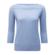 Buy Pure Collection Boat Neck Cashmere Jumper Online at johnlewis.com