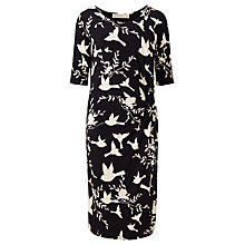 Buy Sugarhill Boutique Jenna Bird Twist Jersey Dress, Black/White Online at johnlewis.com
