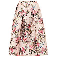 Buy Ted Baker Jirily Blossom Jacquard Midi Skirt, Mid Pink Online at johnlewis.com