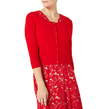 Buy Jacques Vert Cute Cardigan, Bright Red Online at johnlewis.com
