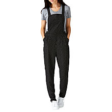 Buy Sugarhill Boutique Freda Dungarees, Black/White Online at johnlewis.com