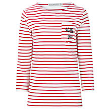 Buy Sugarhill Boutique Isla Hello Stripe Top, Cream/Red Online at johnlewis.com