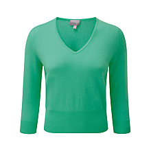 Buy Pure Collection Kristen Cropped Jumper, Cool Mint Online at johnlewis.com
