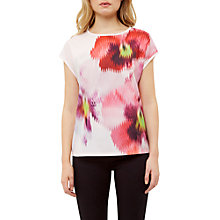 Buy Ted Baker Expressive Pansy Khalees Woven T-Shirt, Baby Pink Online at johnlewis.com