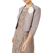 Buy Jacques Vert Petite Curved Bolero Jacket, Mid Brown Online at johnlewis.com