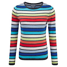 Buy Pure Collection Blair Cashmere Crew Neck Jumper, Multi Stripe Online at johnlewis.com