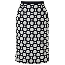 Buy Jacques Vert Jacquard Spot Skirt, Navy/Multi Online at johnlewis.com